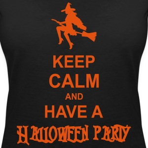 keep calm and have a halloween party T-Shirts - Women's V-Neck T-Shirt