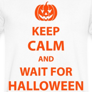keep calm and wait for halloween T-Shirts - Men's V-Neck T-Shirt
