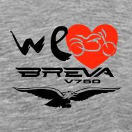 ~ WeLoveBreva 750 - tshirt blackred