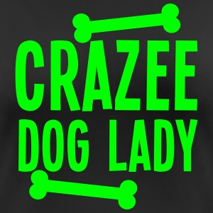 crazee (CRAZY) dog lady with doggy bones T-Shirts - Women's Breathable T-Shirt