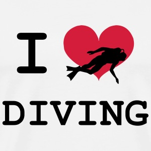 I Love Diving T-Shirts - Männer Premium T-Shirt