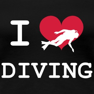 I Love Diving T-Shirts - Frauen Premium T-Shirt