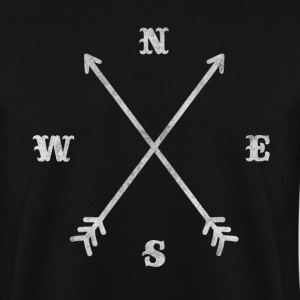 Hipster compass / crossed arrows / retro look Hoodies & Sweatshirts - Men's Sweatshirt