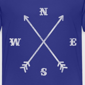 Hipster compass / crossed arrows / retro look Shirts - Kids' Premium T-Shirt