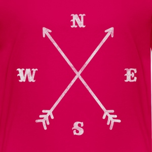 Hipster compass / crossed arrows / retro look Shirts - Teenage Premium T-Shirt