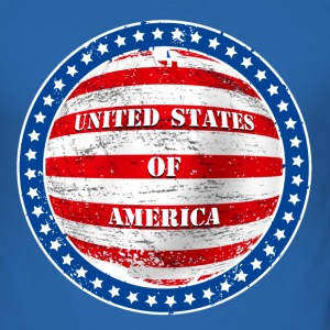 united states 002 T-Shirts - Men's Slim Fit T-Shirt