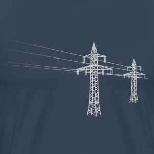 Overland power pole white T-Shirts - Men's Premium T-Shirt