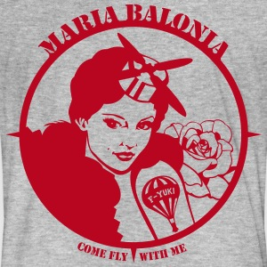 Fly with Maria Balonia - Männer Bio-T-Shirt