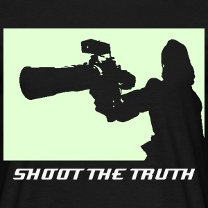 SHOOT THE TRUTH GLOW T-Shirt - Men's T-Shirt