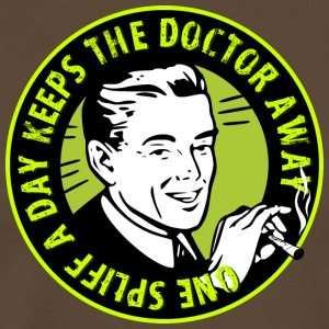 one spliff a day  keeps the doctor away T-Shirts - Männer Premium T-Shirt