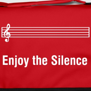 Enjoy The Silence - Funny musician humor Bags & Backpacks - Shoulder Bag