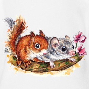 SM Siebenschläfer | edible dormouse T-Shirts - Organic Short-sleeved Baby Bodysuit