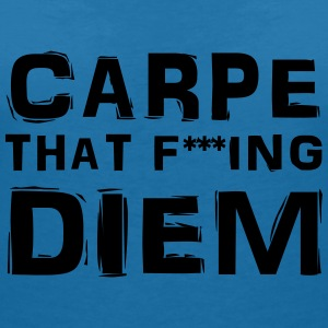 Carpe that fucking diem T-shirts - T-shirt med v-ringning dam
