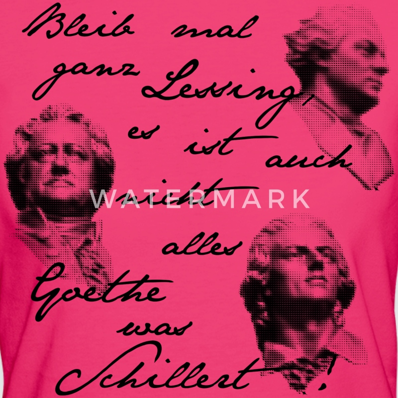 lessing goethe schiller - DIGITAL black T-Shirts - Frauen Bio-T-Shirt