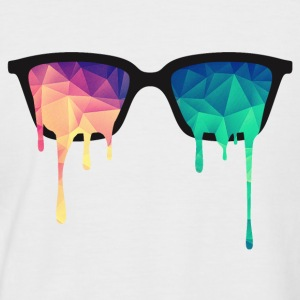 Abstract Psychedelic Nerd Glasses with Color Drops T-shirts - Mannen baseballshirt korte mouw