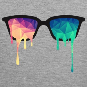 Abstract Psychedelic Nerd Glasses with Color Drops Tank Tops - Men's Premium Tank Top