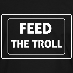 Feed The Troll T-shirts - Mannen contrastshirt