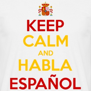 Keep Calm and Habla Español T-shirts - T-shirt herr
