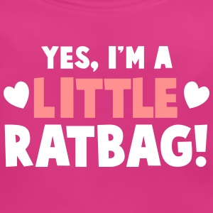YES, I'm a little RATBAG! naughty child funny  Accessories - Baby Organic Bib