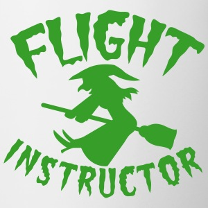 FLIGHT INSTRUCTOR witch on a broomstick Bottles & Mugs - Mug