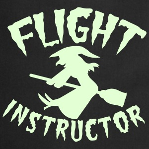 FLIGHT INSTRUCTOR witch on a broomstick  Aprons - Cooking Apron