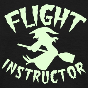 FLIGHT INSTRUCTOR witch on a broomstick T-Shirts - Men's T-Shirt
