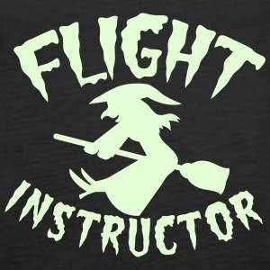 FLIGHT INSTRUCTOR witch on a broomstick Tops - Women's Premium Tank Top