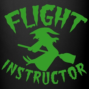 FLIGHT INSTRUCTOR witch on a broomstick Bottles & Mugs - Full Colour Mug