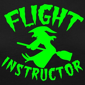 FLIGHT INSTRUCTOR witch on a broomstick Long Sleeve Shirts - Women's Premium Longsleeve Shirt