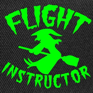 FLIGHT INSTRUCTOR witch on a broomstick Caps & Hats - Snapback Cap