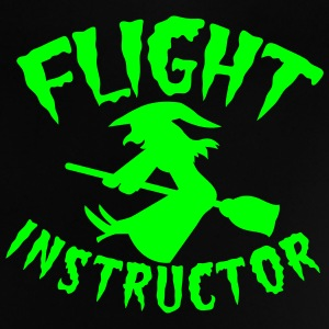 FLIGHT INSTRUCTOR witch on a broomstick Shirts - Baby T-Shirt