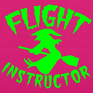 FLIGHT INSTRUCTOR witch on a broomstick Bags & Backpacks - EarthPositive Tote Bag