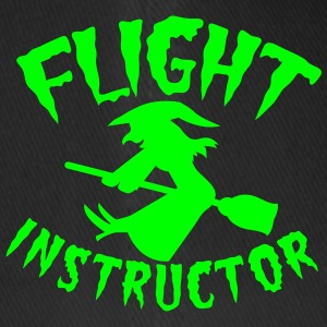 FLIGHT INSTRUCTOR witch on a broomstick Caps & Hats - Flexfit Baseball Cap