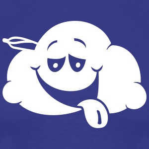 Cloud Smiley stoned – 2 colors - Männer Premium T-Shirt