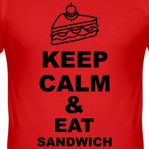 Keep calm & eat Sandwich T-Shirts - Männer Slim Fit T-Shirt