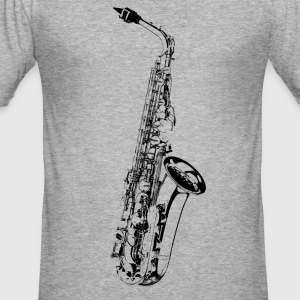 Sax T-Shirts - Men's Slim Fit T-Shirt