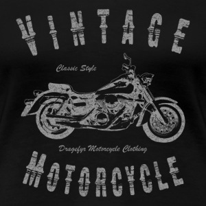 Vintage Motorcycle (Grey) T-Shirts - Frauen Premium T-Shirt
