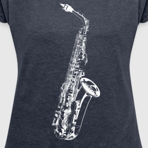 Sax T-Shirts - Women's T-shirt with rolled up sleeves