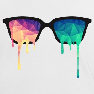 Abstract Psychedelic Nerd Glasses with Color Drops Tee shirts - T-shirt contraste Femme
