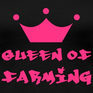 Queen of Farming T-skjorter - Premium T-skjorte for kvinner