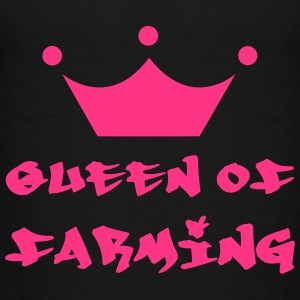 Queen of Farming Shirts - Teenage Premium T-Shirt
