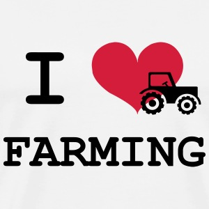 I Love Farming T-Shirts - Men's Premium T-Shirt
