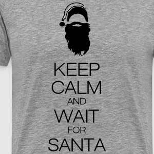 keep calm and wait for santa Tee shirts - T-shirt Premium Homme