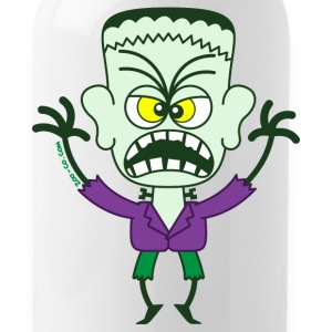 Scary Halloween Frankenstein Bottles & Mugs - Water Bottle