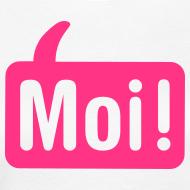 Ontwerp ~ Vrouwen Moishirt wit / roze