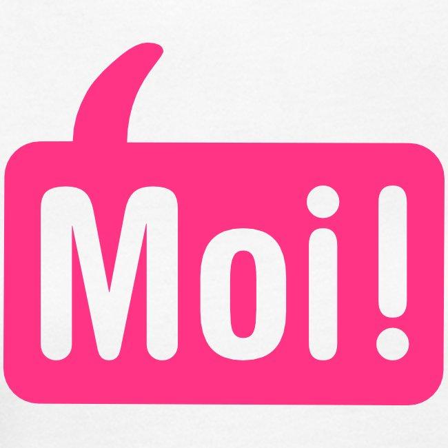Vrouwen Moishirt wit / roze