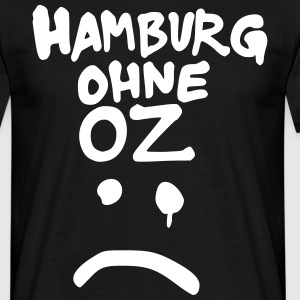 smiley oz street-art hamburg - Männer T-Shirt