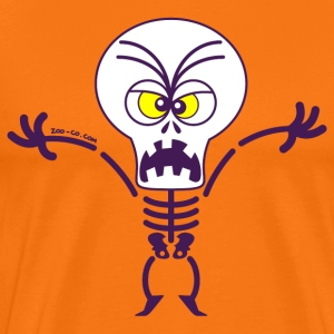Scary Halloween Skeleton T-Shirts - Men's Premium T-Shirt