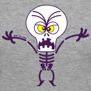 Scary Halloween Skeleton Long Sleeve Shirts - Women's Premium Longsleeve Shirt