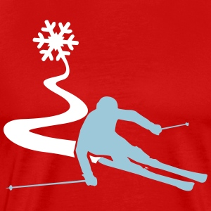 Skiers with snowflake T-Shirts - Men's Premium T-Shirt